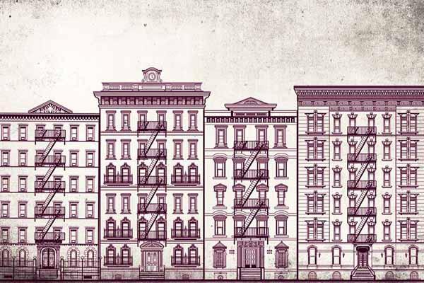 Carta da parati Red Building