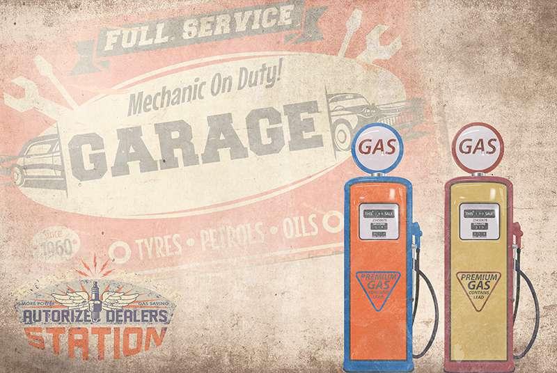 Carta da parati Garage
