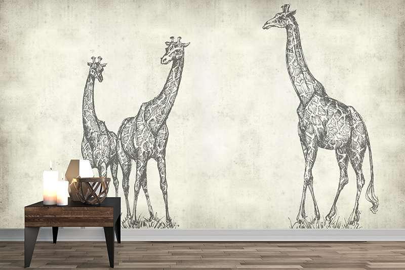 Carta da parati Giraffe