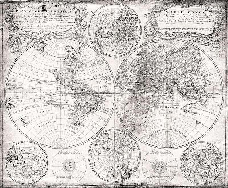 Carta da parati Mappe monde