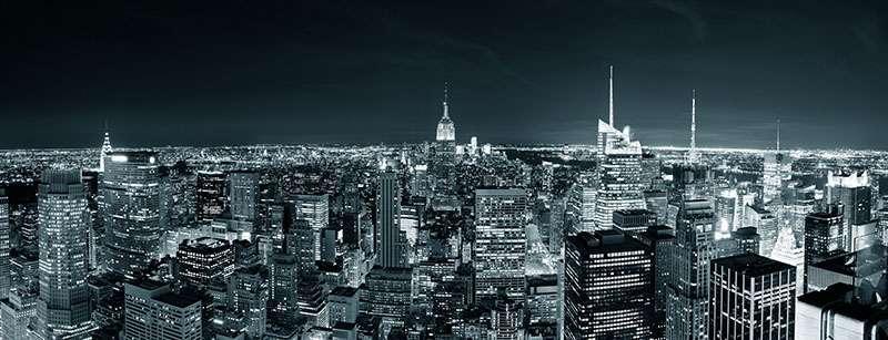 Carta da parati Manhattan di notte