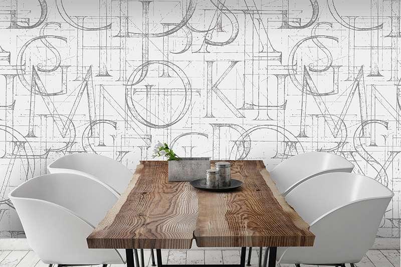 Carta da parati tiles della collezione design for Carta da parati industrial