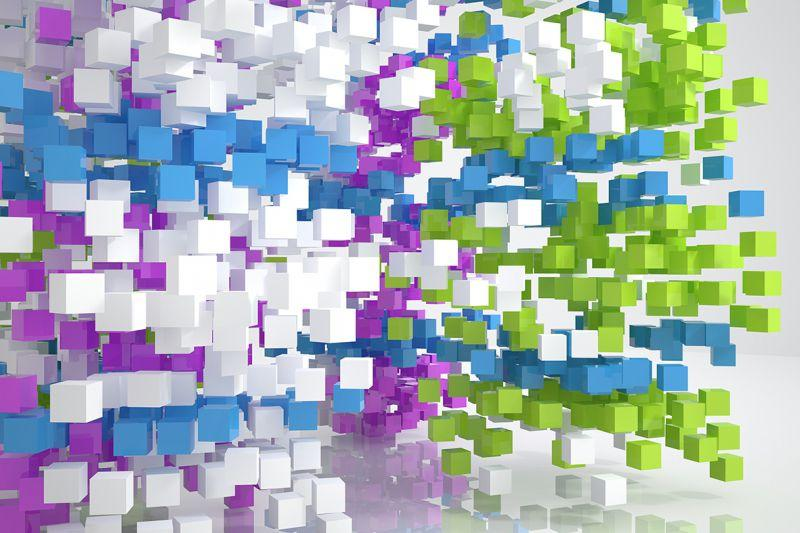 Carta da parati Cubi Colorati