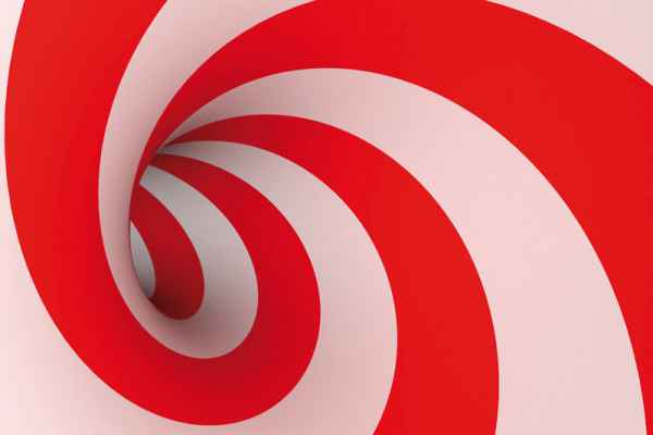 Carta da parati Spirale Rossa