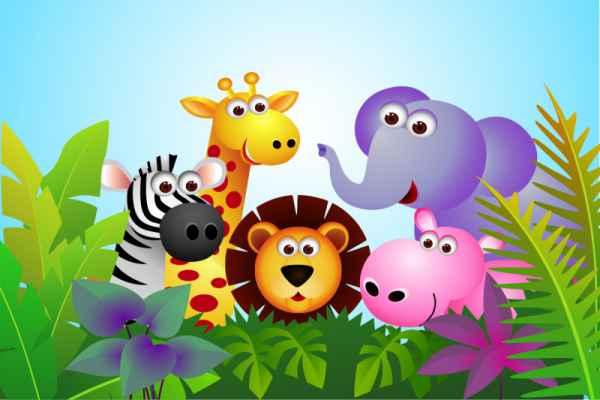 Carta da parati Animali Jungla 2