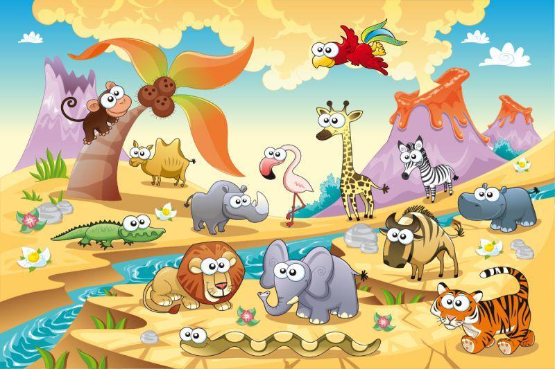 Carta da parati Animali Savana