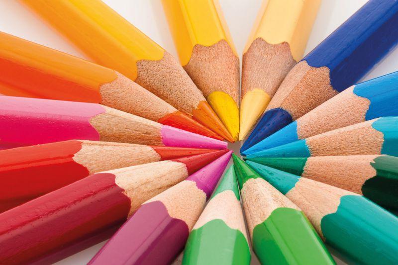 matite colorate  Carta da Parati PUNTE MATITE COLORATE | Personalizzazione