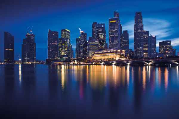 Carta da parati Singapore Skyline 1