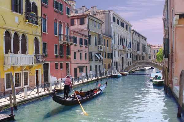 Carta da parati Venezia Gondoliere