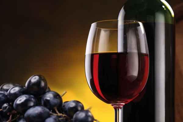 Carta da parati Bicchiere di Vino