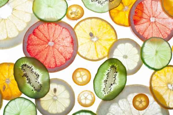 Carta da parati Frutta in trasparenza
