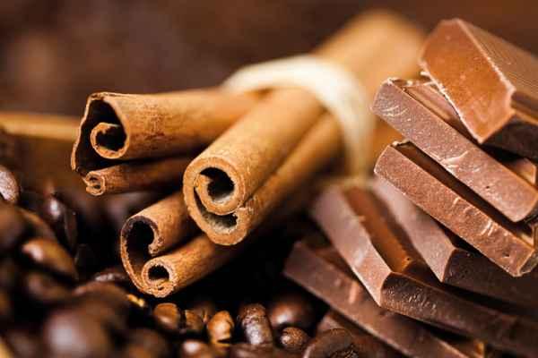 Carta da parati Scaglie di Cioccolato