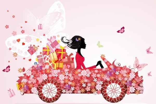 Carta da parati Auto farfalle