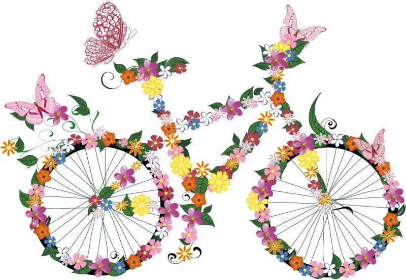 Carta da parati Bicicletta