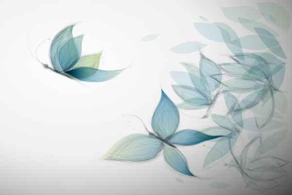 Carta da parati Farfalle filo