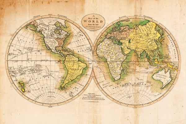 Carta da parati Vecchio Mondo