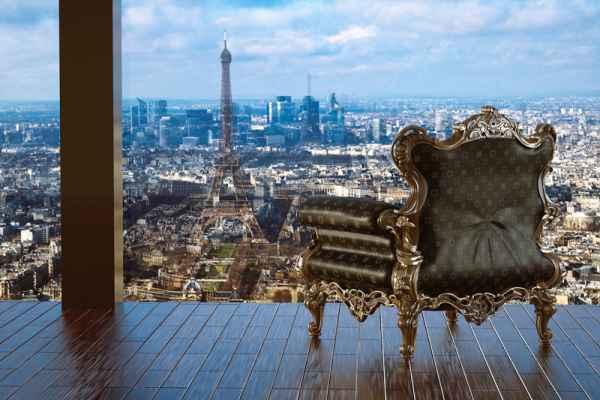 Carta da parati Finestra su Parigi