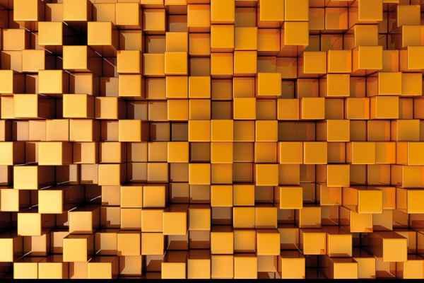 Carta da parati Cunei Oro