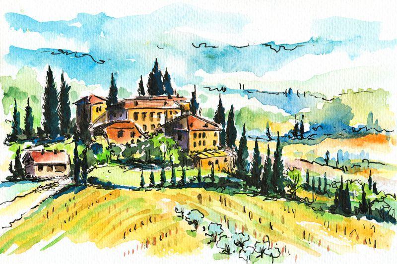 Carta da parati Collina Toscana