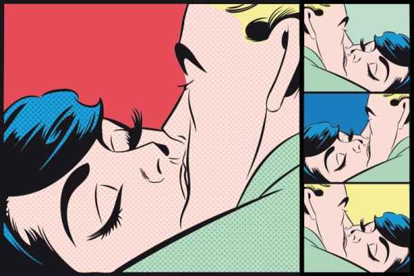 Carta da parati Bacio
