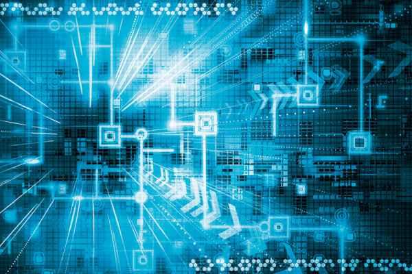 Carta da parati Tecnologia Blu