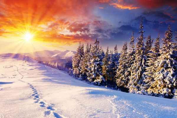 Carta da parati Tramonto d'inverno
