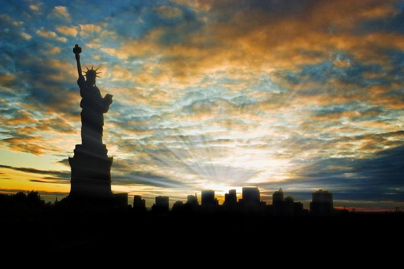 Carta da parati Tramonto a New York