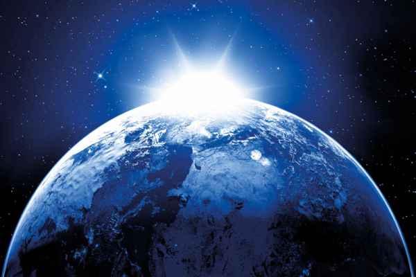Carta da parati Orizzonte Terra