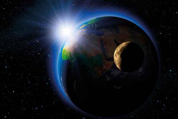 Carta da parati Terra e Luna