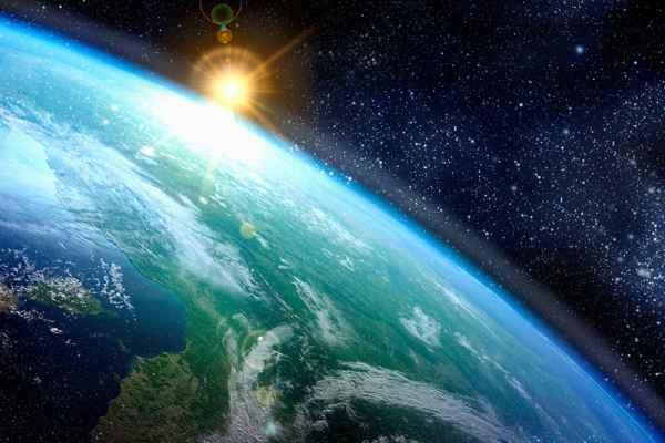 Carta da parati Terra nello spazio